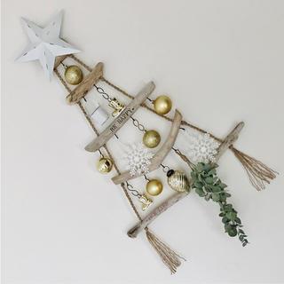 流木ツリー˚✧₊⁎ウォールツリー 西海岸インテリア 壁掛けクリスマスツリー(インテリア雑貨)