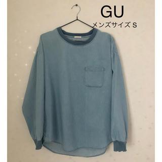 ジーユー(GU)の【美品】GU デニム風 Tシャツ(Tシャツ/カットソー(七分/長袖))
