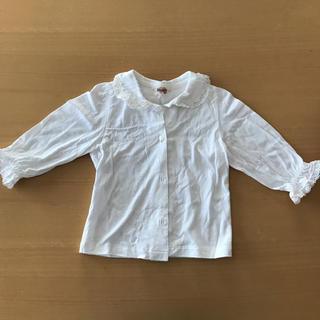 スーリー(Souris)の未使用 白ブラウス 襟つき(ブラウス)