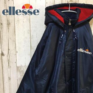 エレッセ(ellesse)の90s vintage エレッセ ロングコート ベンチコート 裏ボア ビックロゴ(ウェア)