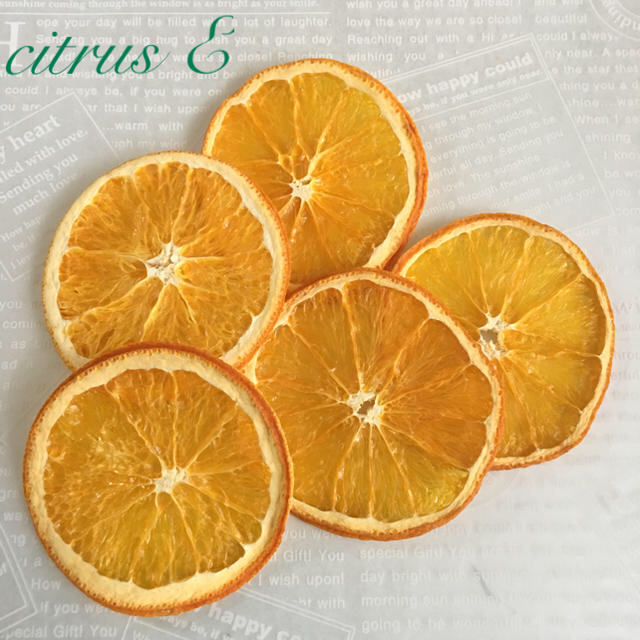 citrus E ドライフルーツ オレンジ×5 ハンドメイドのフラワー/ガーデン(ドライフラワー)の商品写真