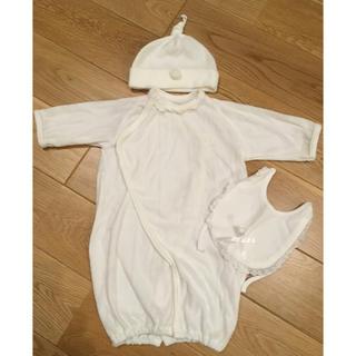 ニシマツヤ(西松屋)の西松屋 ベビー ロンパース セレモニー ドレス シンプル 美品(セレモニードレス/スーツ)