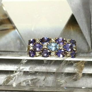 14K タンザナイト ダイヤモンドリング(リング(指輪))