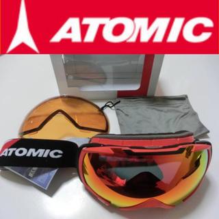 アトミック(ATOMIC)の ✨新品・格安・送料込!ATOMIC ゴーグル スペアレンズ付 スキー スノボ1(アクセサリー)