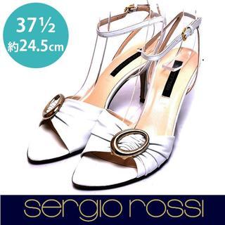 セルジオロッシ(Sergio Rossi)のセルジオロッシ バックルデザイン ストラップ サンダル 37 1/2(約24.5(サンダル)