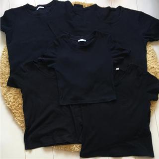 ザラ(ZARA)の黒シャツ Tシャツ 5枚セット(Tシャツ(半袖/袖なし))