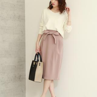エヌナチュラルビューティーベーシック(N.Natural beauty basic)の秋色タイトスカート(ひざ丈スカート)