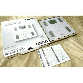オムロン(OMRON)のオムロン 体重体組成計 HBF-215F-W(体重計)