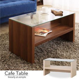 送料無料 カフェ李 長方形 リビングテーブル 天然木(ローテーブル)