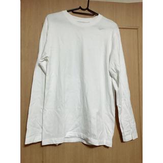 ジーユー(GU)のGU ロンT 白(Tシャツ/カットソー(七分/長袖))
