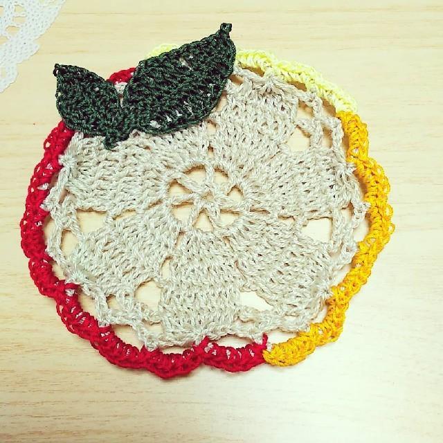 草花コースター ハンドメイドの生活雑貨(雑貨)の商品写真