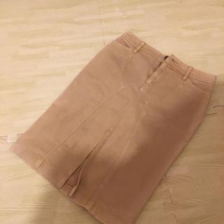 エポカ(EPOCA)のエポカ デニム ベージュ スカート 38(ひざ丈スカート)