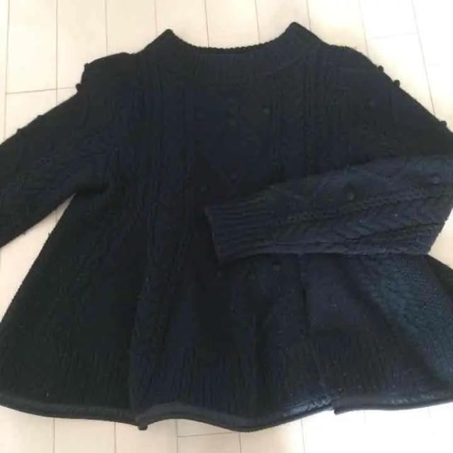 sacai luck(サカイラック)のsacai luck ペプラムニット 黒 1 完売 2014aw レディースのトップス(ニット/セーター)の商品写真