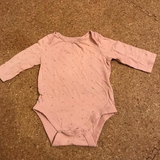 ベビーギャップ(babyGAP)のbaby GAP 肌着 長袖ロンパース星柄ピンク★60(ロンパース)