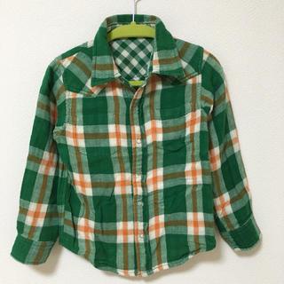 エムピーエス(MPS)のMPS リバーシブル チェックシャツ 110センチ(Tシャツ/カットソー)