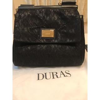 デュラス(DURAS)のDURAS 黒 レース バック 美品 数回使用  保存袋付き(ハンドバッグ)