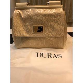 デュラス(DURAS)のDURAS バック 白 レース 美品 使用数回 保存袋付き(ハンドバッグ)