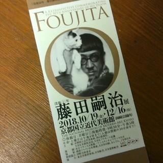 藤田嗣治展 京都国立近代美術館のチケット(美術館/博物館)