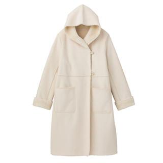クチュールブローチ(Couture Brooch)のクチュールブローチ コート 美品☆ ホワイト コクーンコート(ロングコート)