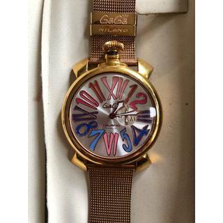 ガガミラノ(GaGa MILANO)のガガミラノ ステンレスベルト ゴールド 腕時計 46㎜(腕時計(アナログ))