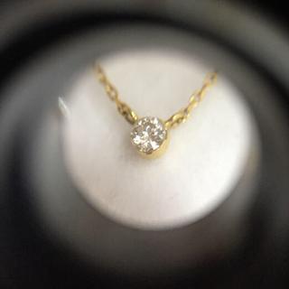 スタージュエリー(STAR JEWELRY)のスタージュエリー ダイヤモンド 0.06ct 一粒ネックレス(ネックレス)