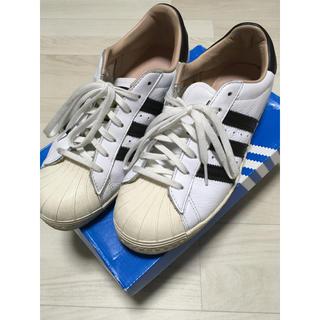 アディダス(adidas)のアディダス adidas スーパースター 24.5 ホワイト×ブラック(スニーカー)