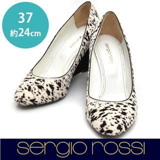 セルジオロッシ(Sergio Rossi)のセルジオロッシ ハラコ パンプス  37(約24㎝)(ハイヒール/パンプス)