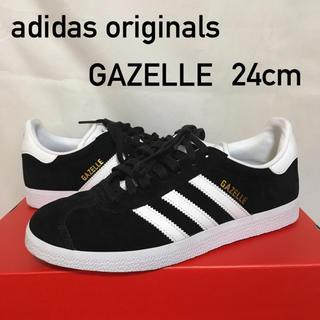 アディダス(adidas)のadidas アディダスオリジナルス GAZELLE(ガゼル) 黒×白 24(スニーカー)