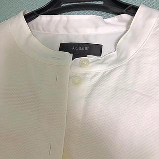 ジェイクルー(J.Crew)のJCREW  ホワイトのピケシャツ(シャツ/ブラウス(長袖/七分))