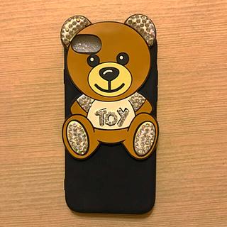 ザラ(ZARA)のアイフォン スマホケース 新品 未使用 くま デコアート (iPhoneケース)