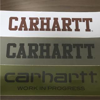 カーハート(carhartt)の【縦6 cm横24.1 cm】carhartt boxロゴステッカー一枚お値段(ステッカー)