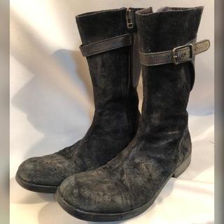 クリスチャンポー(CHRISTIAN PEAU)のCHRISTIAN PEAU 裏ハラコ レザーブーツ 42 26.5 sisii(ブーツ)