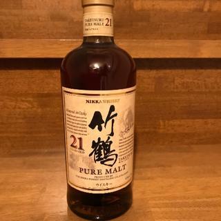 ニッカウイスキー(ニッカウヰスキー)の竹鶴 21年 PURE MALT 700ml(ウイスキー)