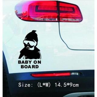カーステッカー⭐赤ちゃんが乗っています❤ブラック❢(その他)