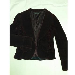 ジーエフ(GF)の別珍ジャケット ドレスジャケット ベロアジャケット 秋冬物 ボレロ フリル(テーラードジャケット)
