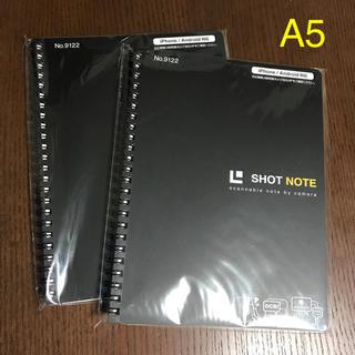 キングジム(キングジム)のショットノート  2冊  キングジム A5(ノート/メモ帳/ふせん)