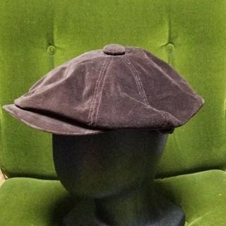 バーバリーブラックレーベル(BURBERRY BLACK LABEL)のバーバリーブラックレーベル ハンチング ブラウン ベルベット(ハンチング/ベレー帽)