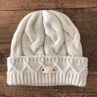 カシラ(CA4LA)のニット帽  カシラ  オフホワイト ca4la(ニット帽/ビーニー)