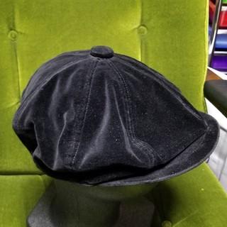 バーバリーブラックレーベル(BURBERRY BLACK LABEL)のバーバリー ブラックレーベル ハンチング ベルベット ブラック(ハンチング/ベレー帽)