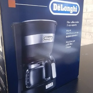 デロンギ(DeLonghi)の【新品】デロンギドリップコーヒーメーカー‼ブラック(コーヒーメーカー)
