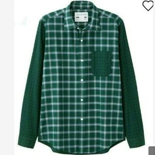 ジーユー(GU)のGUキムジョーンズコラボカラーブロックシャツ長袖メンズMサイズ(Tシャツ/カットソー(七分/長袖))