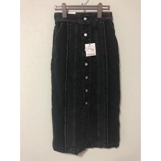 マウジー(moussy)のデニム ロングスカート 未使用(ロングスカート)