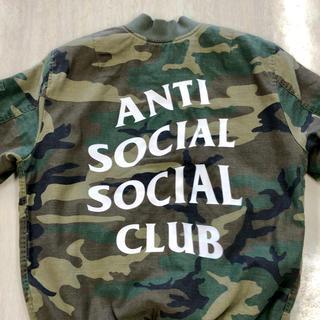 アンチ(ANTI)のANTI SOCIAL SOCIAL CLUB   MA-1 CAMO Mサイズ(ミリタリージャケット)