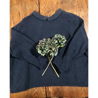 ネストローブ(nest Robe)のblue willow ネイビー リバーシブルシャツ(シャツ/ブラウス(長袖/七分))