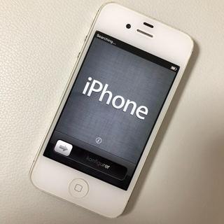 アップル(Apple)のiPhone4s 本体 iPhone ホワイト Apple 16GB(スマートフォン本体)