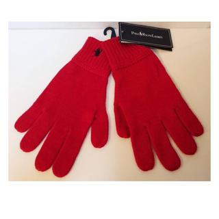 ラルフローレン(Ralph Lauren)のラルフローレン 赤 手袋 メンズ(手袋)