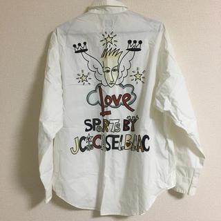 カステルバジャック(CASTELBAJAC)のカステルバジャック 長袖シャツ 白 サイズ2 L(シャツ)