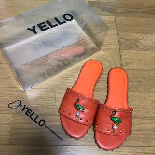イエローブーツ(Yellow boots)のYELLO フラット スライダー サンダル 星あや(サンダル)