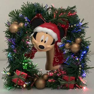 ディズニー(Disney)の( 美品 )Disney ミッキーマウス  クリスマスリース  イルミネーション(リース)