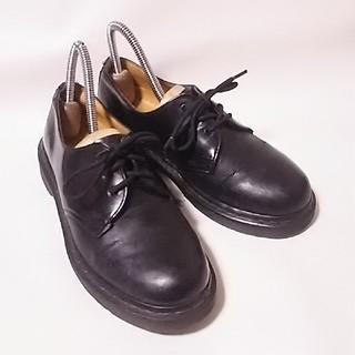 ドクターマーチン(Dr.Martens)の 絶対王道!ドクターマーチン高級牛革レザー3ホールローファー黒ビンテージ!   (ローファー/革靴)